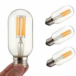 Dimmable E27 E26 T45 6W COB Incandescent Warm White Edsion Restro Light Lamp Bulb AC110V AC220V 1