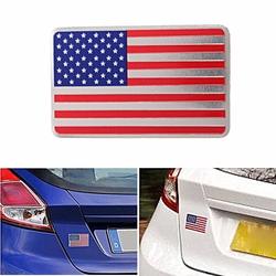 Car American USA Flag Emblem Sticker Metal Badge Decal Decor Universal For Truck Auto 1