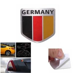 Aluminum Germany Flag Shield Car Emblem Badge Decals Sticker Truck Auto 1