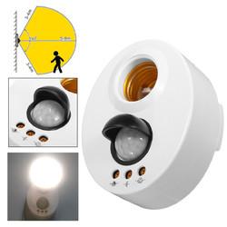 E27 Infrared Motion PIR Sensor Adjustable Delay Induction Lamp Holder Switch 1
