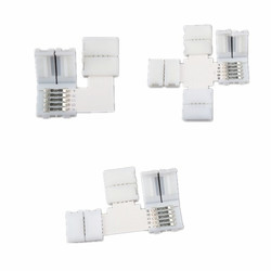 5 Pin RGBW L/T/+ Shape Corner Connector for 12mm Width LED Strip 1