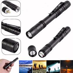Elfeland XPE AAA EDC LED Pen Light Flashlight Torch Lamp Light Clip 1