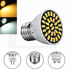 MR16 E27 GU10 LED Light Bulbs 5733 SMD 18 320LM Pure White Warm White Spot Lightt AC220V 3W 1