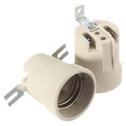 E27 Ceramic Lamp Holder Socket Fittings Screw Bulb Adapter Straight Elbow Shape 1