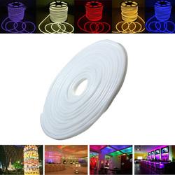 15M 2835 LED Flexible Neon Rope Strip Light Xmas Outdoor Waterproof 110V 1