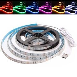 3M Waterproof USB SMD3528 TV Background Computer LED Strip Tape Flexible Light DC5V 1