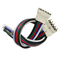 5 Pin Male Female Connector Cable Wire For RGBW SMD5050 LED Flexible Strip Light 1