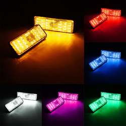 Rectangle Reflector LED Rear Tail Brake Stop Light Car Motorcycle 6-Colors 1