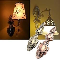 Vintage Phoenix Style Sconce Wall Lamp Light Base Part Mount Holder Fixture Replacement 28x12cm 1