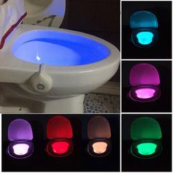 Motion Activated Toilet Night Light Bowl Bathroom LED 8 Color Lamp Sensor Lights 1