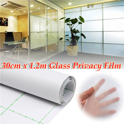 30cm 1.2M Frosted Window Tint Glass Privacy PVC Film For DIY Home/Office/Store 1