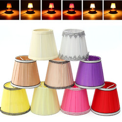 Fabric Chandelier Lampshade Holder Clip on Sconce Bedroom Beside Bed Lamp Hanging Light 1
