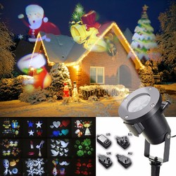 12Pattern Waterproof LED Moving Laser Projector Stage Light Christmas Halloween Lamp 1