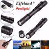 Elfeland XPE 600LM EDC LED Pen Light Flashlight With Clip AAA 2