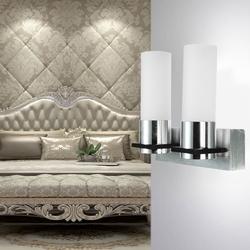 Modern 2W Dual Head Warm White LED Wall Light Sconce Hallway Hotel Lamp 85V-265V 1