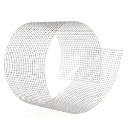 15x90cm Woven Wire 304 Stainless Steel Filtration Grill Sheet Filter 4 Mesh 1