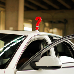 WenTongZi?® 20cm Adorable Solid Question Mark Type Car Roof Ornament 1