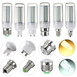 6W E27 E14 E12 G9 GU10 B22 SMD4014 LED Corn Light Bulb Lamp Non-dimmable 1