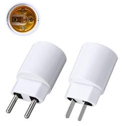 E27 Light Socket To EU/US Plug Holder Adapter Converter For Bulb Lamp 1