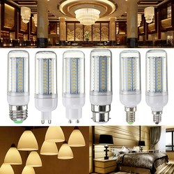 6W Dimmable E27 E14 E12 G9 GU10 B22 SMD4014 LED Corn Bulb Chandelier Light AC110V 1