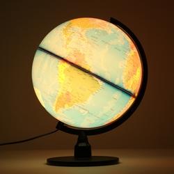 Creative Illuminated World Earth Globe Rotating Night Light Desktop Decoration 1