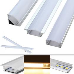 30CM Aluminum Channel Holder For LED Rigid Strip Light Bar Under Cabinet Lamp 1