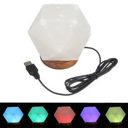 Natural Crystal Rock USB Salt Lamp Colorful LED Night Light Decor 1