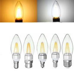 E27 E14 E12 B22 B15 4W 110V Silver Incandescent Candle Light Bulb Home Lighting Decoration 1