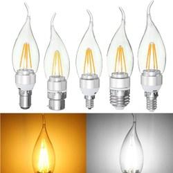 E27 E14 E12 B22 B15 4W Silver Pull Tail Incandescent Light Lamp Bulb Non-Dimmable 110V 1