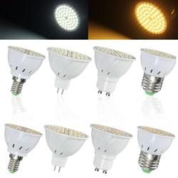 E14 E27 GU10 MR16 3.5W 72 SMD 3528 Pure White Warm White LED Spot Lightt Bulbs Lamps AC110V AC220V 1