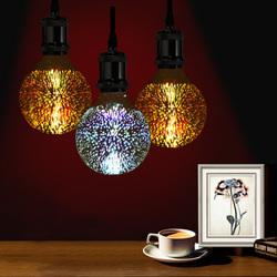 3D Fireworks E27 G80 LED Retro Edison Decorative Light Lamp Bulb AC85-265V 1