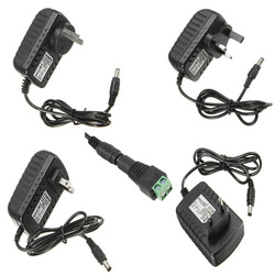 LUSTREON AC100-240V TO DC12V 2A 24W Power Supply Adapter For Strip Light + Female Connector 1