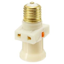 E27 Socket Pure Copper Chandelier Ceiling Vintage Switch Lamp Converter 1