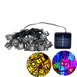 Solar Powered 30 LED ICE Cube Letter String Light for Christmas Garden Patio Wedding Party Decor 1