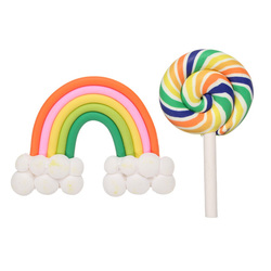 Simulation Cream Jelly Soft Rainbow Cloud Creamy DIY Phone Shell Material Jewelry Accessories 1