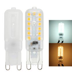 G9 2.5W SMD 5050 Transparent Milky Pure White Warm White LED Light Bulb AC220V 1