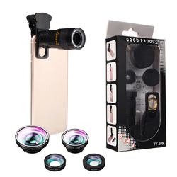 5 In 1 Fisheye Wide Angle Marco Telephoto Lens CPL Lens For Mobile Phone 1