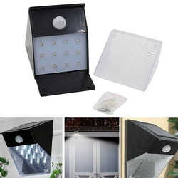 Solar Powered 12 LED PIR Motion Sensor Wall Light Outdoor Garden Lamp 1