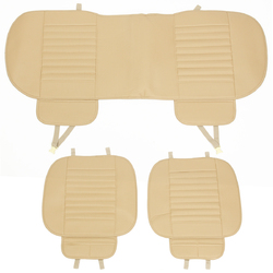 3pcs Car Front Rear Seat Cover Breathable PU Leather Bamboo Charcoal Pad Mat Car Seat cushion 1