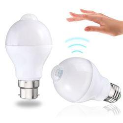 E27 B22 12W SMD5730 24LEDs Infrared Motion Sensor + Light Control Induction Light Bulb AC85-265V 1