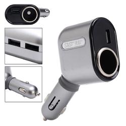DC 12-24V Car Cigarette Lighter Socket Adapter With 3 USB Port Car Charger 1
