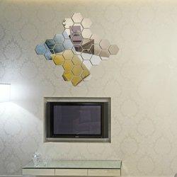 12PCS 3D Mirror Hexagon Vinyl DIY Removable Wall Sticker Art Decal Home Decor 1