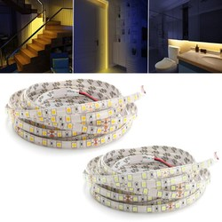 5M 60W 5050 SMD Waterproof 300LEDs Strip Light Pure White Warm White for Home Decor DC24V 1