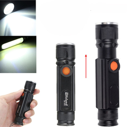 Elfeland T6 2000LM 3Modes Magnetic Tail Rechargeable Zoomable LED Flashlight 1