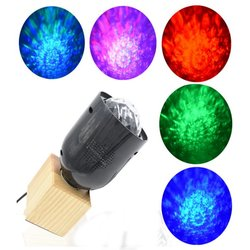 AC85-265V 3W E27 Remote Control Colorful LED Stage Wave Light for Home Party Decoration 1