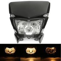 12V Motorcycle Fairing Headlight Lamp Hi/Lo Beam Street Fighter Dirt Bike Universal 1