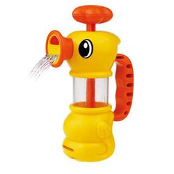 Cikoo Children Summer Bathing Water Manual Pumping Small Yellow Duck Cute Bath Toys 1