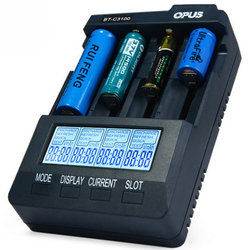 Opus BT-C3100 V2.2 4Slots LCD Display Smart Intelligent Universal Battery Charger 1