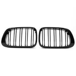 Car Front Right & Left Gloss Black Frontgrills For BMW E46 1998-2001 1