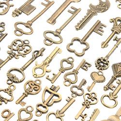 125Pcs Vintage Bronze Key For Pendant Necklace Bracelet DIY Handmade Accessories Decoration 1